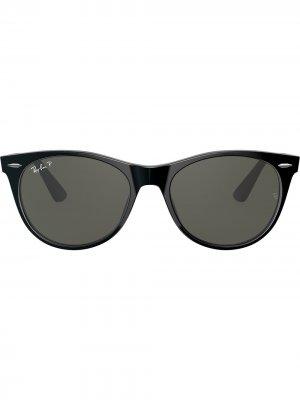 Солнцезащитные очки Wayfarer II Ray-Ban. Цвет: черный