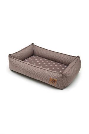 Лежанка для животных 60х45 см BEDFOR. Цвет: бежевая лапка