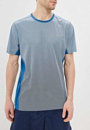 Футболка спортивная Columbia. Цвет: голубой