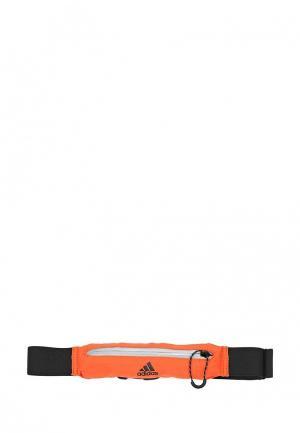 Пояс для бега adidas Performance. Цвет: оранжевый