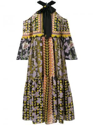 Платье со спущенными рукавами Odyssey Temperley London. Цвет: черный