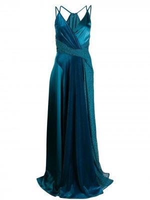 Платье Solberg Talbot Runhof. Цвет: синий