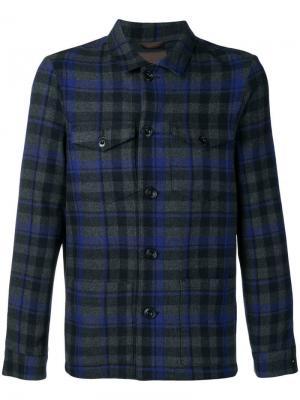 Куртка-рубашка в клетку Altea. Цвет: серый