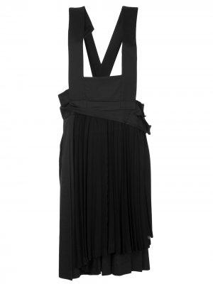 Платье-сарафан на лямках Comme Des Garçons Pre-Owned. Цвет: черный