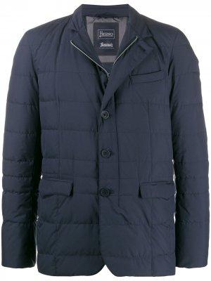 Стеганая куртка-пуховик Herno. Цвет: синий