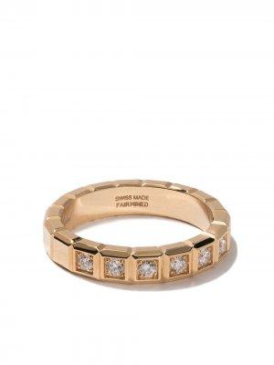 Кольцо Ice Cube из желтого золота с бриллиантами Chopard. Цвет: fairmined желтый