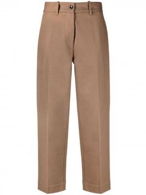Укороченные брюки Raso Nine In The Morning. Цвет: коричневый