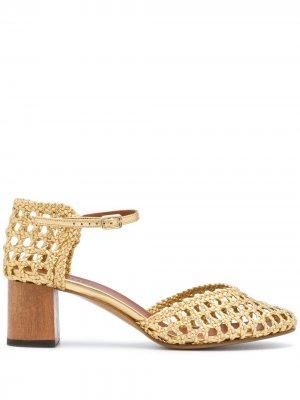 Плетеные туфли Petrus Michel Vivien. Цвет: золотистый