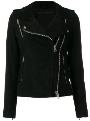 Байкерская куртка с молниями Munderingskompagniet. Цвет: чёрный