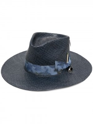 Шляпа-федора Cles Nick Fouquet. Цвет: синий