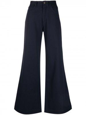 Расклешенные брюки широкого кроя Société Anonyme. Цвет: синий