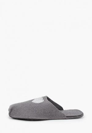 Тапочки Котофей. Цвет: серый