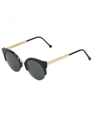 Солнцезащитные очки Lucia Francis Retrosuperfuture. Цвет: черный