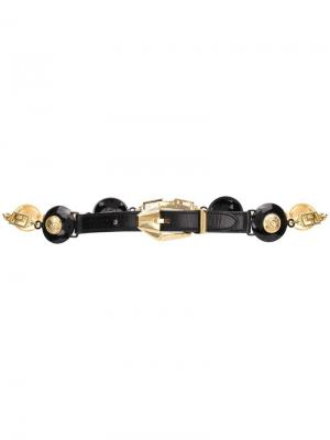Декорированный ремень Versace Pre-Owned. Цвет: черный