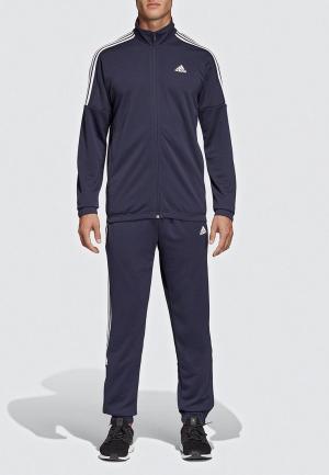 Костюм спортивный adidas. Цвет: синий