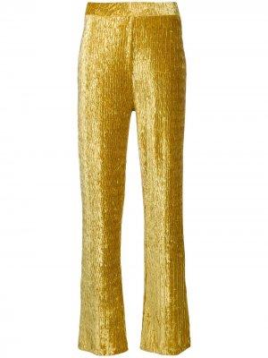 Расклешенные брюки с завышенной талией Frenken. Цвет: желтый