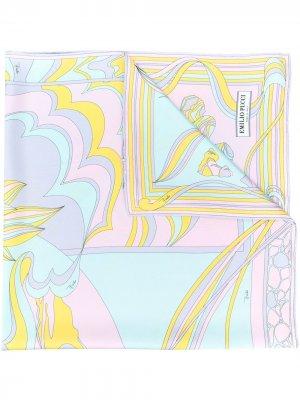 Платок Mirei с принтом Emilio Pucci. Цвет: розовый