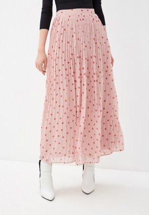 Юбка Vila. Цвет: розовый