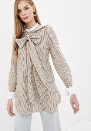 Блуза By Malene Birger. Цвет: бежевый