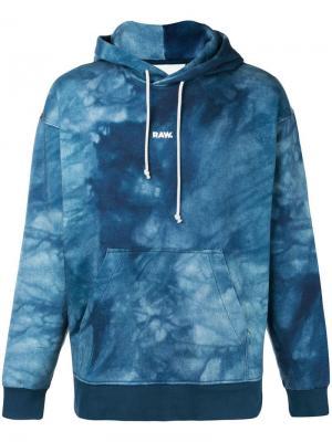 Jaden Smith Collab logo print hoodie G-Star Raw Research. Цвет: синий