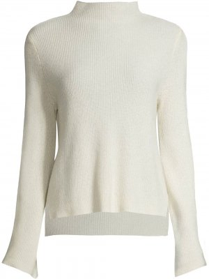 Mock-neck ribbed jumper Nicole Miller. Цвет: белый