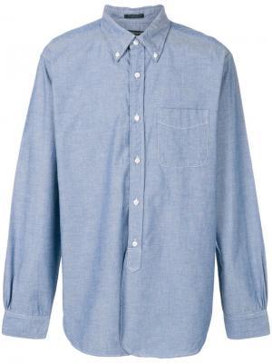 Рубашка на пуговицах Engineered Garments. Цвет: синий
