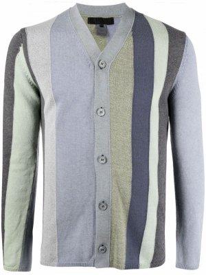 Полосатый кардиган с V-образным вырезом Comme Des Garçons Shirt. Цвет: зеленый