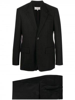 Костюм с однобортным пиджаком Maison Margiela. Цвет: черный