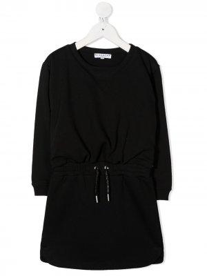 Платье-свитер с кулиской Givenchy Kids. Цвет: черный