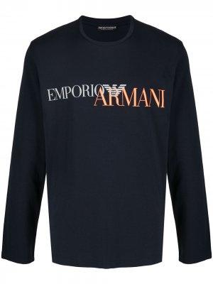 Спортивный костюм с логотипом Emporio Armani. Цвет: синий