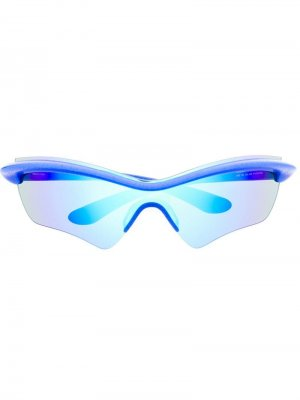 Солнцезащитные очки в спортивном стиле Mykita. Цвет: синий