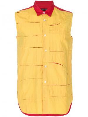 Рубашка без рукаавов Comme Des Garçons Pre-Owned. Цвет: желтый