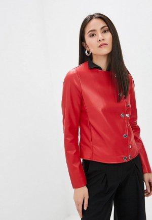 Куртка кожаная Camomilla Italia. Цвет: красный