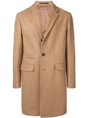 Однобортное пальто Mauro Grifoni. Цвет: коричневый