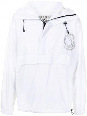 Легкая куртка с логотипом Billionaire Boys Club. Цвет: белый