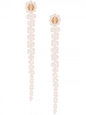 Серьги-подвески с бусинами Simone Rocha. Цвет: розовый