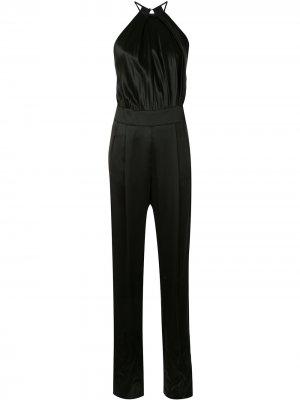 Комбинезон без рукавов с вырезом халтер Michelle Mason. Цвет: черный