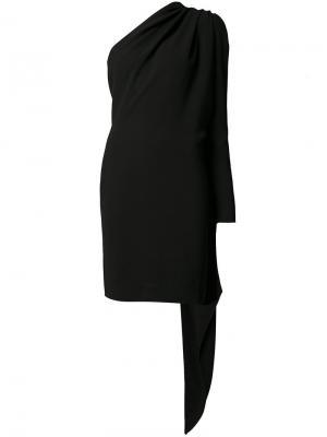 Платье с декором в виде шарфа Gareth Pugh. Цвет: черный