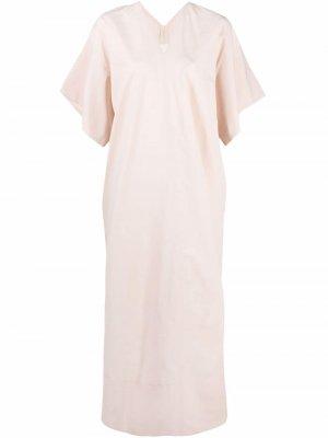 Платье макси с короткими рукавами Toogood. Цвет: нейтральные цвета