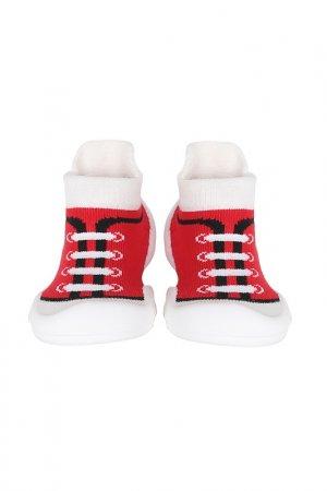 Носочки-ботиночки Ggomoosin. Цвет: красный