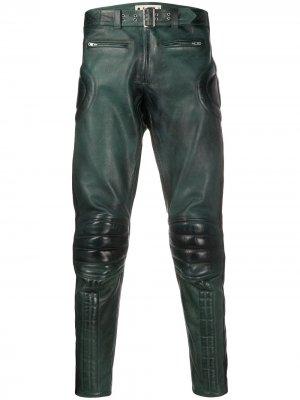 Skinny-fit calf leather trousers Marni. Цвет: зеленый