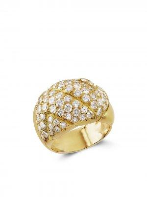 Кольцо Present Day 1961-го года из желтого золота с бриллиантами Van Cleef & Arpels. Цвет: золотистый