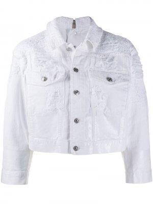 Куртка на пуговицах Diesel. Цвет: белый