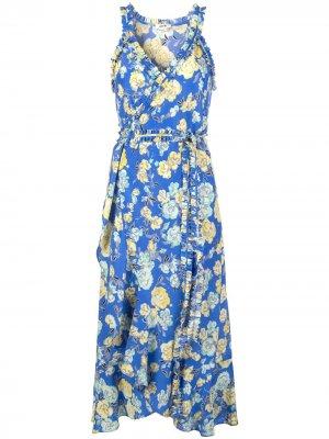 Платье миди с оборками Jason Wu. Цвет: синий