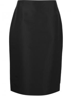 Юбка прямого кроя Carolina Herrera. Цвет: черный