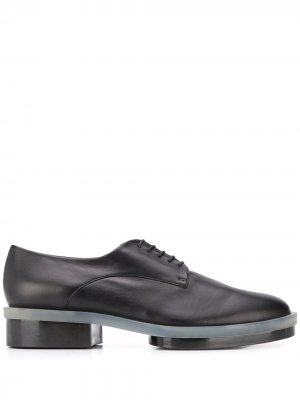 Туфли Roma 35 на платформе Robert Clergerie. Цвет: черный