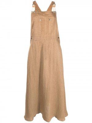 Платье-сарафан Sable Mes Demoiselles. Цвет: коричневый
