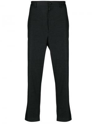 Приталенные брюки строгого кроя Mauro Grifoni. Цвет: серый