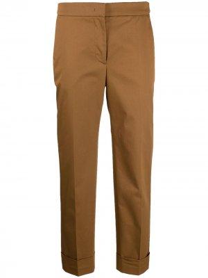 Укороченные брюки строгого кроя Pt01. Цвет: коричневый