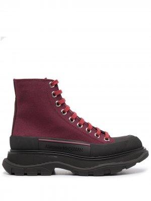 Ботинки на шнуровке Alexander McQueen. Цвет: красный